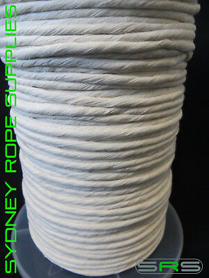 4Mm X 220Mtr Reel Single Strand Cotton Rope,free Postage Austwide