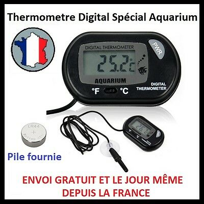 Digital Thermometre Sonde Cable Affichage Lcd Aquarium Poisson Piscine Frigo C/f