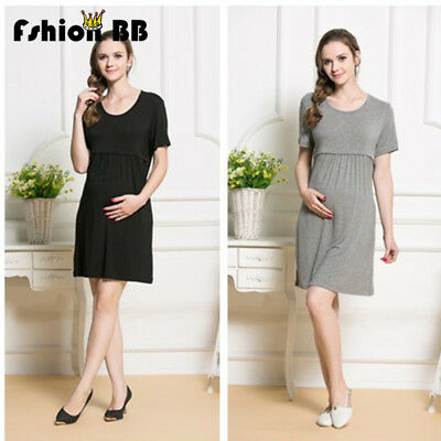 New Arrival Maternity Breastfeeding Clothes 100% Cotton Summer Nursing Dress