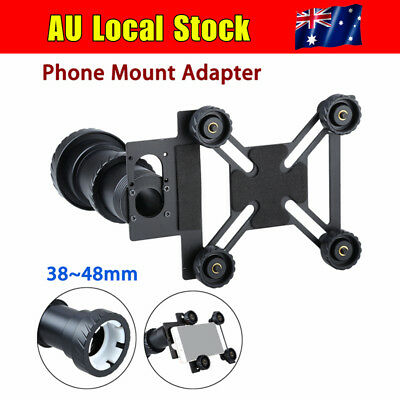 AU Shock-Proof Phone Mount Adapter Spotting Scope Holder For 38-48mm Smart Phone