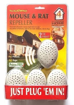Big Cheese 4 Pack of the Ultrasound Mouse and Rat Repeller