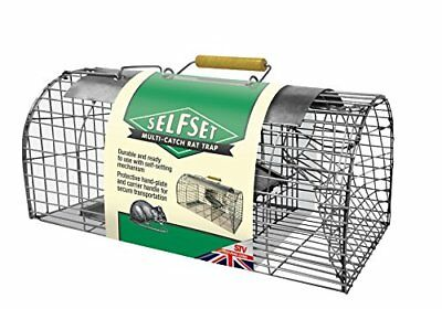 Selfset Multi-Catch Rat Trap  Humane, Durable, Ready-To-Use Rodent Pest Trap, Ca
