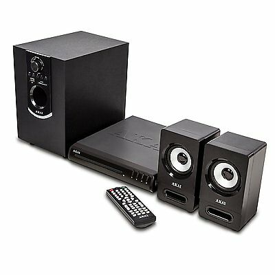 Akai Bluetooth Home Theatre Compact DVD Player With 50 W Multimedia System Black