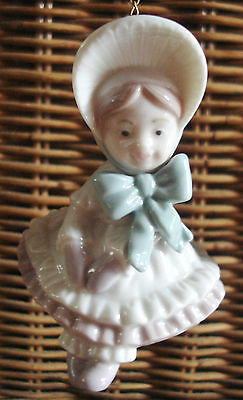 New LLADRO Porcelain DOLL Holiday Ornament ADORABLE! 6263 NWOT