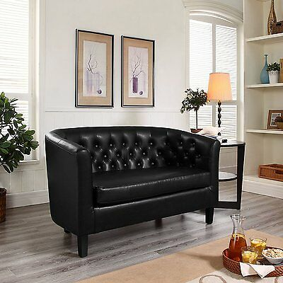 Loveseat Lounge - Sectional Living Room Furniture Antique Vintage Look Arm Couch
