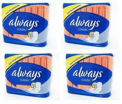 Always Classic Sanitary Towels Super Soft On Your Skin Normal 10pcs