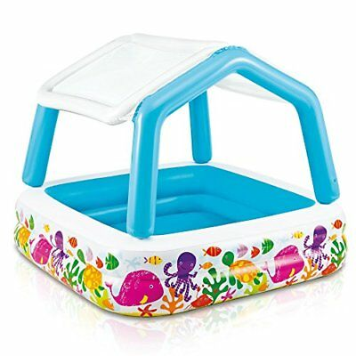 """Intex Sun Shade Inflatable Pool 62"""" X 62"""" X 48"""" for Ages 2+"""