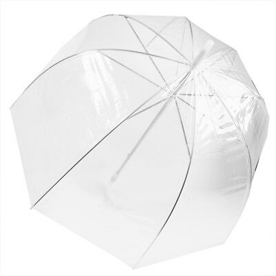 Dome Shaped Clear Umbrella No Trim Full Protection Cover Bubble