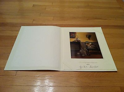 2001 Official Large White House Christmas Card - President George W. Bush