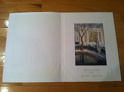 2007 Official Large White House Christmas Card - President George W. Bush