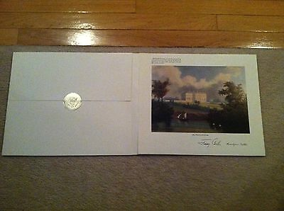 1980 Official Large White House Christmas Card/Print - President Jimmy Carter