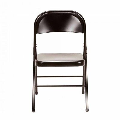 Metal Folding Chair Set 4 Lightweight Sturdy Foldable Home Party Extra Seats New