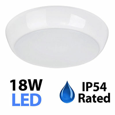 18W Round Led Bulkhead Ip54 Indoor Outdoor  Light Fitting  Microwave Sensor