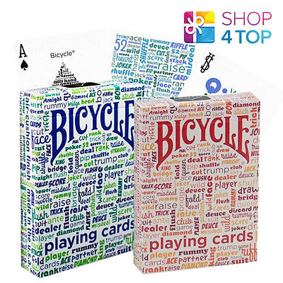 2 Bicycle Table Talk Blue And Red Playing Standard Index Cards Decks Usa New