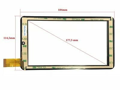 "schwarz - Touchscreen Display Glas Digitizer 7"" kompatibel für ODYS Nova X7"