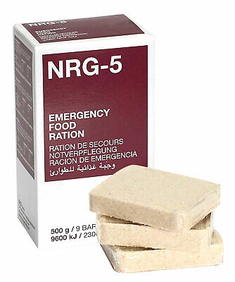 Emergency ration army survival food pack. Military NRG-5 500g. 9 bars