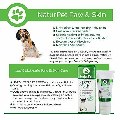 Naturpet Paw & Skin | 100% Natural Healing Cream for Dog Paws | 2 oz | Fo...