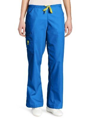 WonderWink Women's Scrubs Romeo 6 Pocket Flare Leg Pant Royal X-Small/Petite