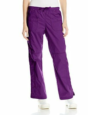 WonderWink Women's Wonderflex Faith Scrub Pant Eggplant Small