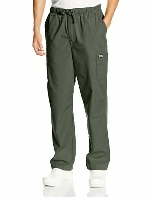 Cherokee Workwear Scrubs Men's Cargo Pant Olive Small