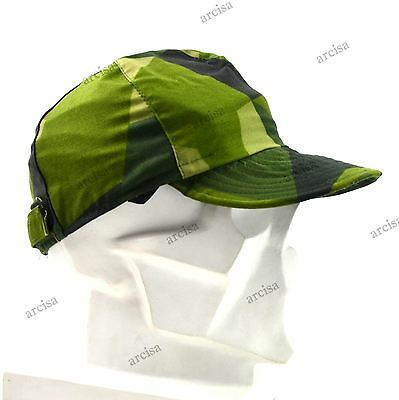 Original Swedish army cap M90. Sweden military field cap camo