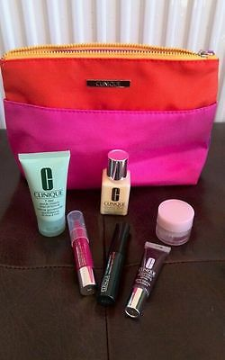 new CLINIQUE cosmetic bag GIFT SET chubby stick moisture surge,lotion, scrub £39