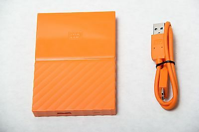 WD 1TB Orange My Passport  Portable External Hard Drive - USB 3.0