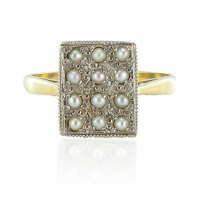 Bague ancienne or perles fines Ring