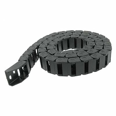 "URBEST 3/10"" Plastic Flex Wire Cable Carrier Drag Chain Black 10 x 20mm"