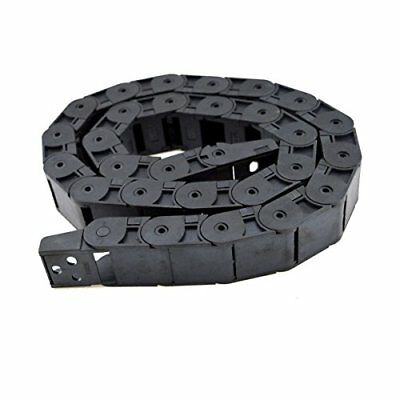 URBEST 1M Length Black Plastic 18 x 25mm Open One Side Type Cable Drag Chain ...