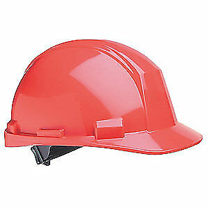 HONEYWELL NORTH Hard Hat,4 pt. Ratchet,Red, A89R150000, Red