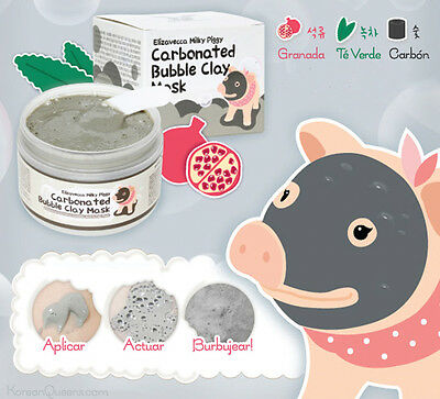 ELIZAVECCA Milky Piggy Carbonated Bubble Clay Mask 100g Mascara de arcilla