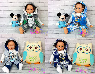 3pcs Baby Boys Clothes Tracksuit Long Sleeve Top Vest Trousers Toddler Outfits