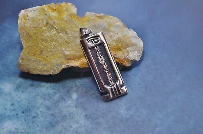 Thick Egyptian Personalized Name Sterling Silver Cartouche With Anubis On Back
