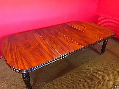 Grand Victorian Regency Style Mahogany Table Professionally French Polished