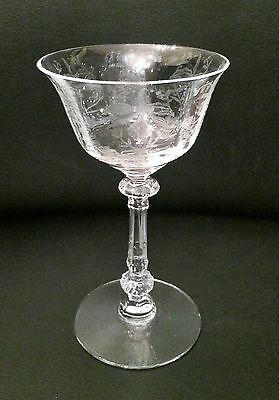 Heisey Glass Orchid #5025 Cocktail Goblets (2)