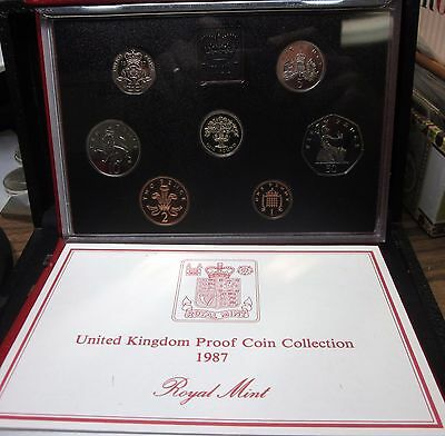 1987 Great Britain Proof Set ✪ Original Red Box ✪ United Kingdom Uk 7 ◢Trusted◣