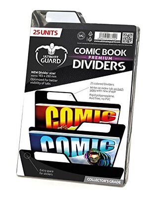 Ultimate Guard Premium Comic Book Dividers  Pack of 25, Black