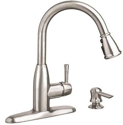 ORGL-1622943-McKenzie 9012301.075 Pull-Down Kitchen Faucet With Soap Dispenser,
