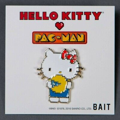 BAIT x Sanrio x Pac-Man Hello Kitty Pin white