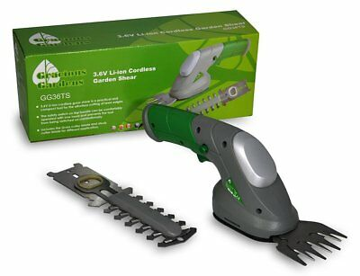 Gracious Gardens 3.6V Lithium Ion Hedge & Grass Cordless Trimming Shears