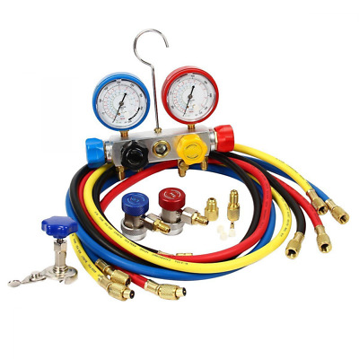 vismile 4-Way AC Diagnostic Manifold Gauge Set Ideal in Black Box For R410a R22
