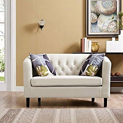 Loveseat Lounge Couch - Living Room Furniture Antique Vintage Look Arm Sectional