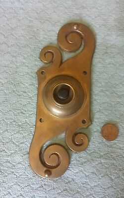 Door Bell Electric Art Nouveau Bronze Antique