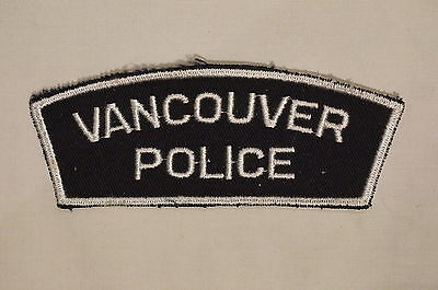 Canadian British Columbia Vancouver Police Patch Single