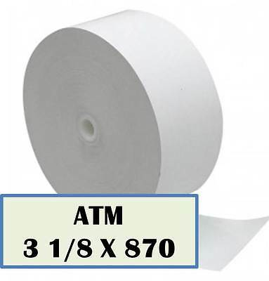 3-1/8 x 870' Heavyweight Thermal ATM 8 Rolls Hyosung Cross Tranax