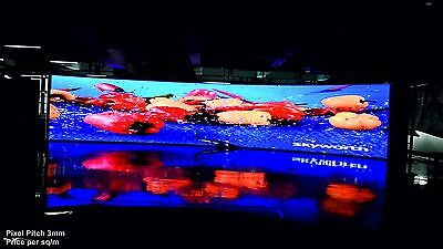 Full Colour LED Video Wall Display - Pixel Pitch 3mm - Indoor - price per 1m²