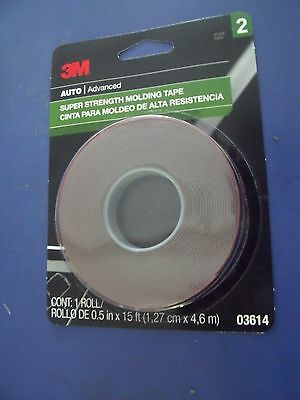 3M 03614 Super Strength Molding Tape, 1/2 Inch x 15 ft