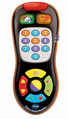 NEW VTech Baby Remote Control Click & Count Toy Kid Plays 45+ Songs Sounds Music