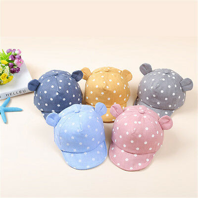 Toddle Infant Baby Summer Sun Cap Child Boy Girl Baseball Snapback Ear Dots Hat#